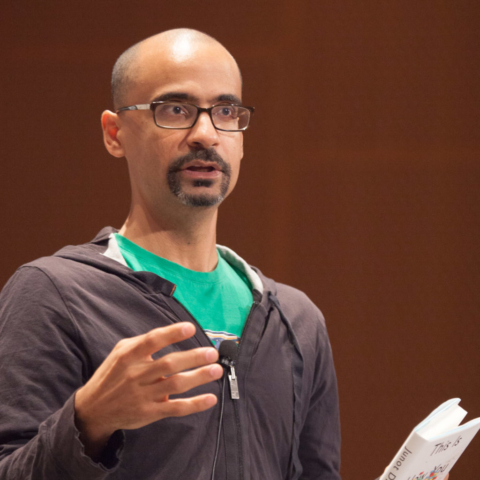 author Junot Diaz at MIT