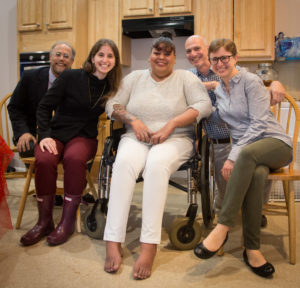 celebrating successful adaptation of apartment for wheelchair