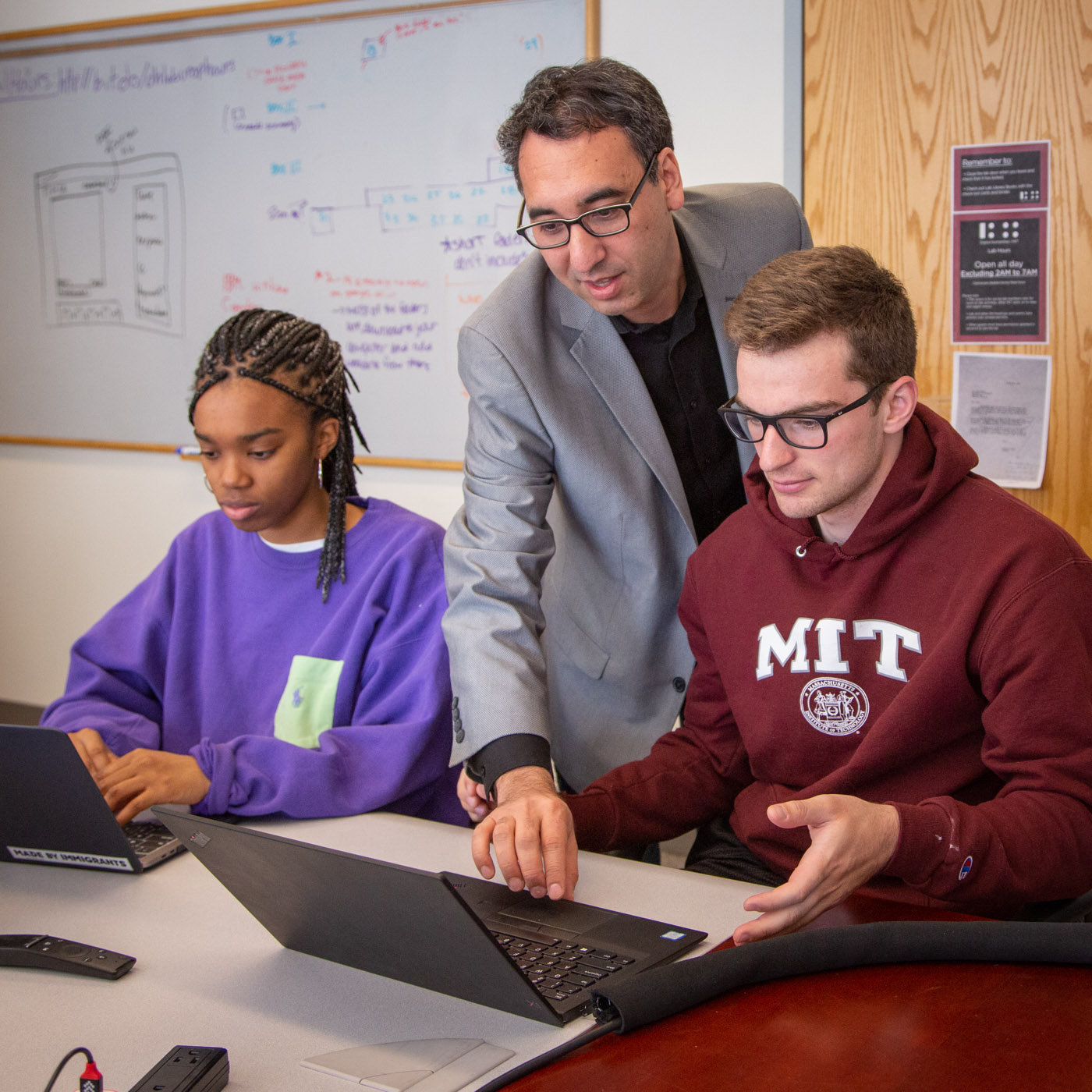 Prof. Cuthbert teaching at MIT