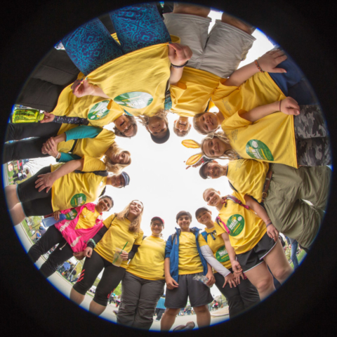 Walk for Hunger Fisheye Photo Group
