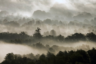 Misty Ridges, used for a book cover